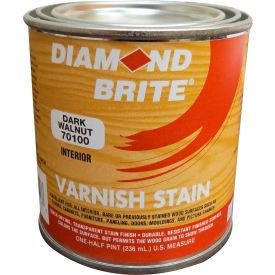 Diamond Brite Oil Varnish Stain Paint, Dark Walnut 8 Oz. Pail 6/Case - 70100-6
