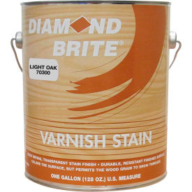 Diamond Brite Oil Varnish Stain Paint, Light Oak Gallon Pail 1/Case - 70300-1