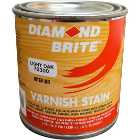 Diamond Brite Oil Varnish Stain Paint, Light Oak 8 Oz. Pail 6/Case - 70300-6