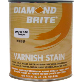 Diamond Brite Oil Varnish Stain Paint, Dark Oak 32 Oz. Pail - 70400-4