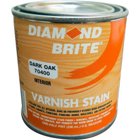 Diamond Brite Oil Varnish Stain Paint, Dark Oak 8 Oz. Pail 6/Case - 70400-6