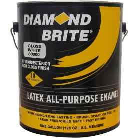 Diamond Brite Latex Gloss Enamel Paint, Gloss White Gallon Pail 1/Case - 81000-1