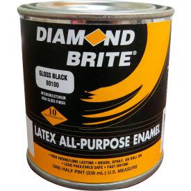 Diamond Brite Latex Gloss Enamel Paint, Gloss Black 8 Oz. Pail 6/Case - 81100-6
