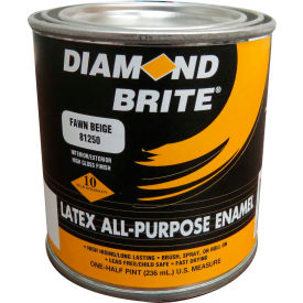 Diamond Brite Latex Gloss Enamel Paint, Satin Black 8 Oz. Pail 6/Case - 81250-6