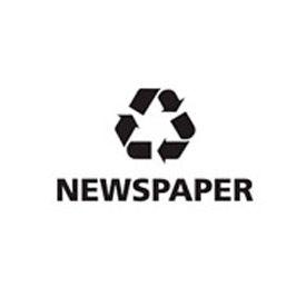 "Recycling Decals ""Newspaper"" - Black 8-1/4""W x 4-3/4""H Pkg Qty 1"