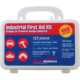 Ready America® Industrial First Aid Kit, 74016, 122 Pieces