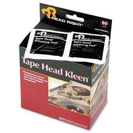 Tape Head Kleen Pad, Individually Sealed Pads, 80/box