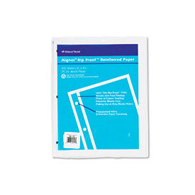 Heavyweight 20-Lb. Reinforced Bond Filler Paper, 11x8-1/2, Unruled, 100 Shts/Pk