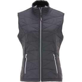 RefrigiWear® Women's Quilted Vest, Black, 2XL, 0424RBLK2XL