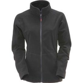 RefrigiWear Women's Fleece Jacket, Black, 30°F Comfort Rating, M