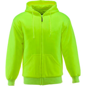 RefrigiWear® Insulated Quilted Sweatshirt, Lime, 15° Comfort Rating, XL, 0488RHVLXLG