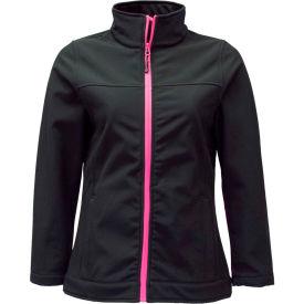 RefrigiWear Women's Softshell Jacket, Black, 20°F Comfort Rating, 3XL