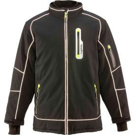 RefrigiWear Extreme Softshell Jacket, Black, -60°F Comfort Rating, 4XL
