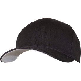 RefrigiWear® Flexfit Fitten Cotton Blend Cap, Black, S/M, 6196RBLKSMD