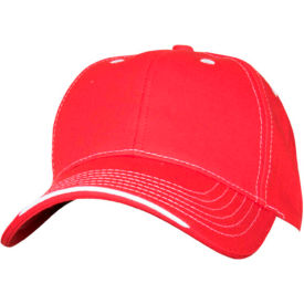 RefrigiWear® Structured Cap, Red, One Size, 6197RREDOSA