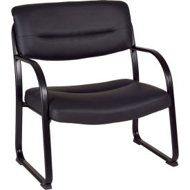 Regency Big and Tall Side Chair - Black - Crusoe Series