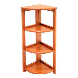 34x12 Corner Flip Flop Bookcase - Cherry
