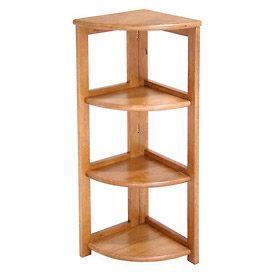 34x12 Corner Flip Flop Bookcase - Medium Oak