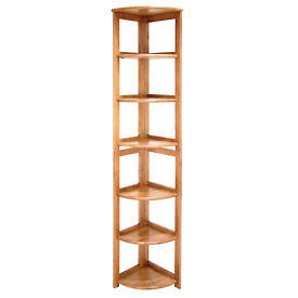 67x12 Corner Flip Flop Bookcase - Medium Oak
