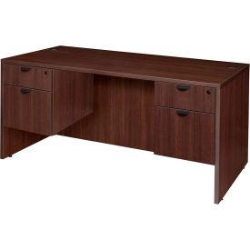 "Regency 66"" Desk with Hang-g Peds - Java - Manager Series"