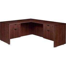 "Regency 60"" L Desk with 36"" Right Return - Java - Manager Series"