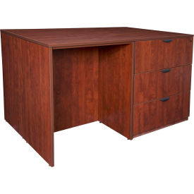 Regency Stand Up 2 Lateral File - 2 Desk Quad - Cherry - Legacy Series