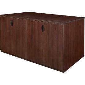 Regency Stand Up 2 Storage Cabinet - 2 Desk Quad - Java - Legacy Series