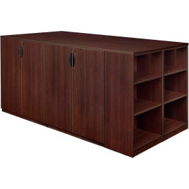 Regency Stand Up 2 Storage Cabinet - 2 Desk Quad with Bookcase End - Java - Legacy Series