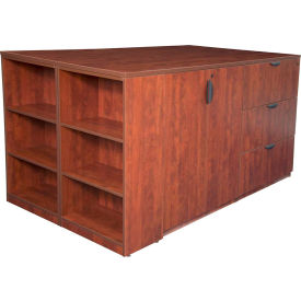 Regency Stand Up 2 Storage Cabinet - Lateral File - Desk Quad - Bookcase - Cherry - Legacy Series