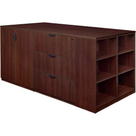 Regency Stand Up 2 Desk - Storage Cabinet - Lateral File Quad - Bookcase - Java - Legacy Series