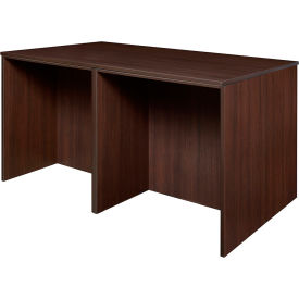 Regency Stand Up Desk Quad - Java - Legacy Series