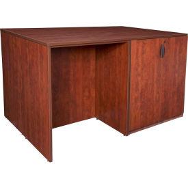 Regency Stand Up Storage Cabinet - 3 Desk Quad - Cherry - Legacy Series