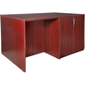 Regency Stand Up Storage Cabinet - 3 Desk Quad - Mahogany - Legacy Series