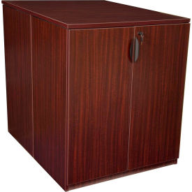 Regency Stand Up Back-to-Back Storage Cabinet and Desk - Mahogany - Legacy Series