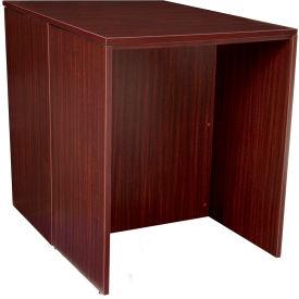 Regency Stand Up Back-to-Back Desks - Mahogany - Legacy Series
