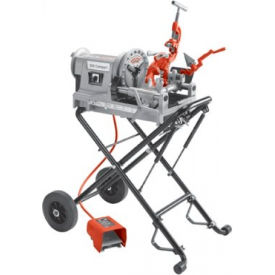Model 300 Compact Kit Power Threading Machines, RIDGID 67182 w/ 250 Folding Wheel Stand