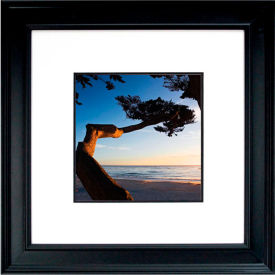 "Crystal Art Gallery - Carmel Sunset - 26""W x 26""H, Double Mat Framed Art"