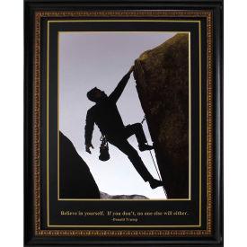 "Crystal Art Gallery - Trump Rock Climber - 26-3/4""W x 32-3/4""H, Straight Fit Framed"