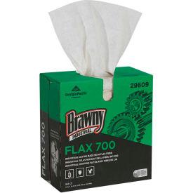 GP Brawny Industrial White FLAX 700 Medium Duty Cloths, 94 Cloths/Box, 10 Boxes/Case - 29609