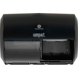 GP Compact Side-By-Side Double Roll Bathroom Tissue Dispenser, Black - 56784