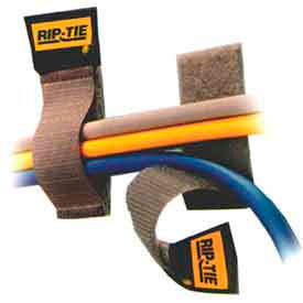 """Rip-Tie, 1"""" x 4"""" CableCatch, C-04-050-BN, Brown, 50 Pack"""