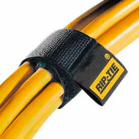 """Rip-Tie, 1"""" x 9"""" CableWrap, H-09-010-BK, Black, 10 Pack"""