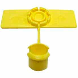 "Rip-Tie, 5/8"" x 2"" Unitag Labels, U-20-100-Y, Yellow, 100 Pack"