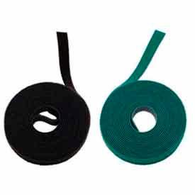 """Rip-Tie, 3/8"""" X 75' WrapStrap, W-75-PRL-BK, Black, 1 Roll"""