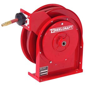 """Reelcraft 5625 OHP 3/8""""x25' 4800 PSI Premium Duty All Steel Spring Retractable Compact Hose Reel"""