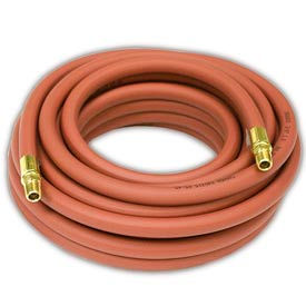 "Reelcraft S601013-25 3/8""x25' 300 PSI Nylon Braided PVC Low Pressure Air/Water Hose"