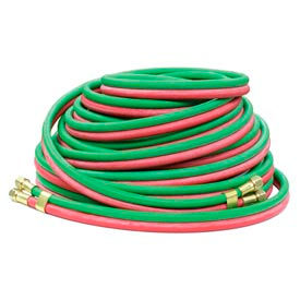 """Reelcraft 601032-100 1/4""""x100' 200 PSI RM-Grade Twin Welding Oxygen/Acetylene Only Hose Assembly"""