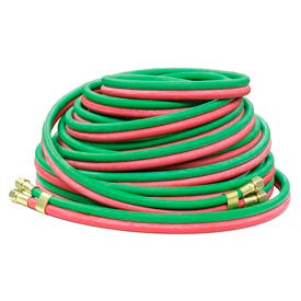 """Reelcraft 601032-50 1/4""""x50' 200 PSI RM-Grade Twin Welding Oxygen/Acetylene Only Hose Assembly"""
