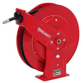 "Reelcraft 7850 OMP 1/2""x50' 3250 PSI Heavy Duty Spring Retractable Medium Pressure Hose Reel"