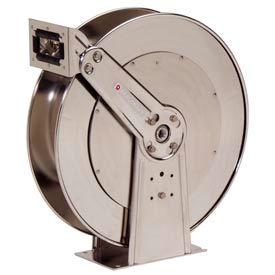"Reelcraft 82000 OLS 1/2""x100' 500 PSI Stainless Steel Spring Retractable Low Pressure Hose Reel"